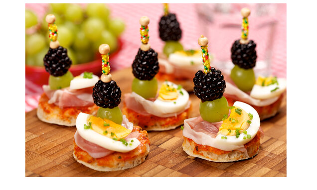 pizza canapes